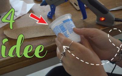 Idee con i Vasetti dello yogurt
