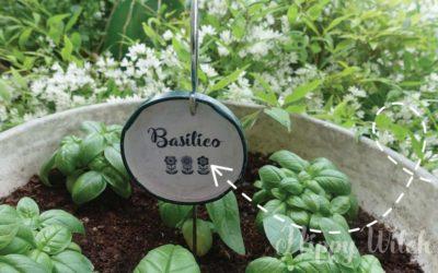 Etichette per orto con Gruccia e Tappo